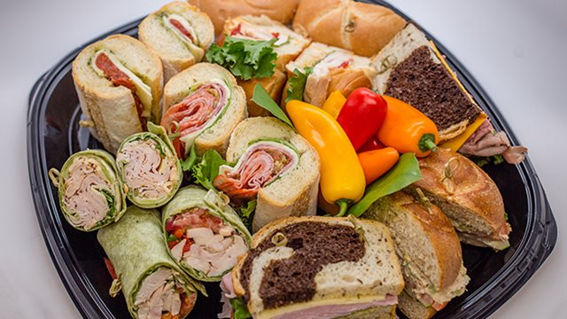 assorted sandwiches from la prima catering