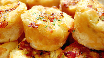 Hot cheddar, bacon and leek biscuits