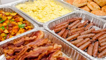 Farm-to-table hot breakfast catering