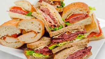 Overstuffed deli sandwich catering special