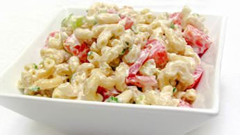 Deli salads including macaroni salad, potato salad and coleslaw