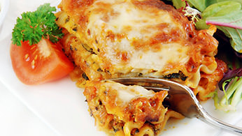 Hot layered lasagna