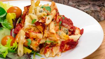 Hot baked ziti