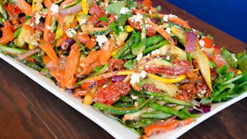Grilled vegetable salad from la prima catering