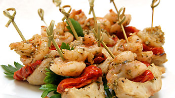 Additional Hors D'oeuvres - Basil Shrimp Artichoke Picks