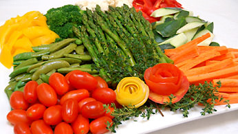 Vegetable crudite display