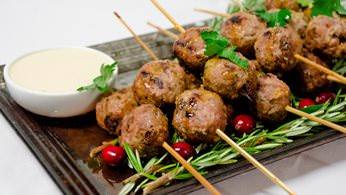 Middle eastern lamb meatballs from la prima catering