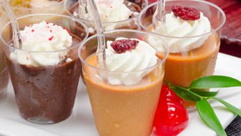 Holiday dessert shots
