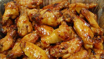 Hot Hors D'oeuvres - Honey Sriracha Chicken Wings