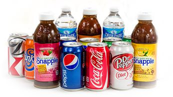 Assorted beverages - sodas, bottled water, iced tea