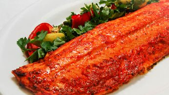 Entrée Salads and Platters - Red Pepper Salmon