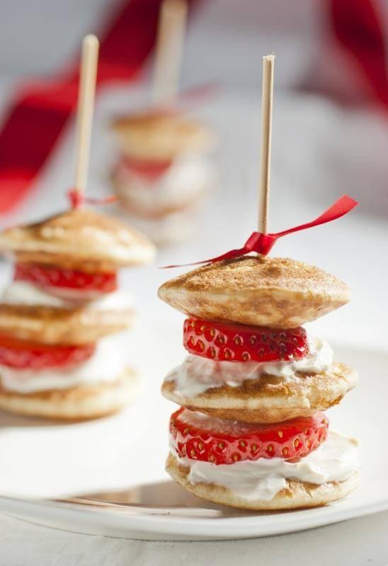 Strawberry and Pancake Bites